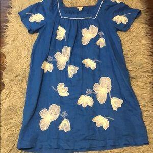 J Crew floral linen dress